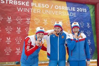 Российские биатлонисты заняли весь пьедестал