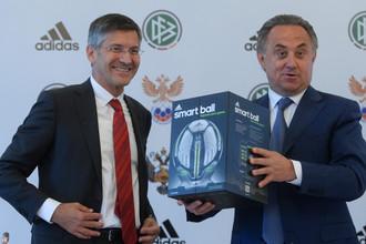 Министр спорта Виталий Мутко с руководителем Adidas Гербертом Хайнером