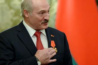 Президент Белоруссии Александр Лукашенко во время встречи с президентом России Владимиром Путиным в Москве, 2015 год