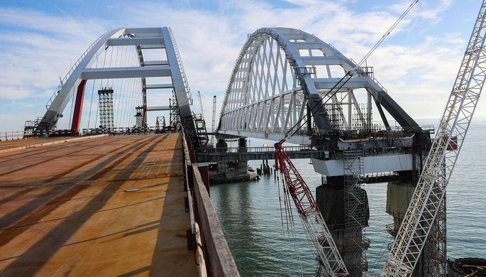 Строительство Крымского моста через Керченский пролив, декабрь 2017 года