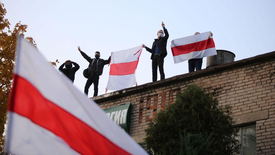 Участники акции протеста в Минске, 25 октября 2020 года