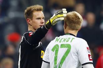 Двадцатилетний голкипер Марк-Андре тер Штеген не позволил «Баварии» увезти из Менхенгладбаха три очка
