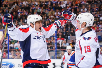 Лучший снайпер НХЛ Александр Овечкин отметился очередной шайбой