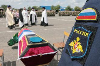 Церемония прощания с десантниками, погибшими при обрушении казармы в Омске
