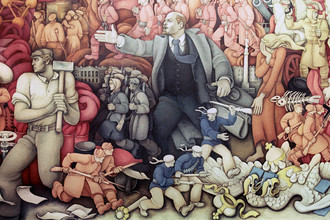 Картина Константина Махарадзе «В.И. Ленин». Репродукция