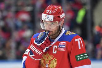 Капитан сборной России по хоккею Илья Ковальчук