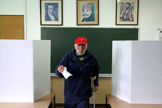 Голосование на референдуме о Дне Республики в городе Лакташи, 25 сентября 2016 года