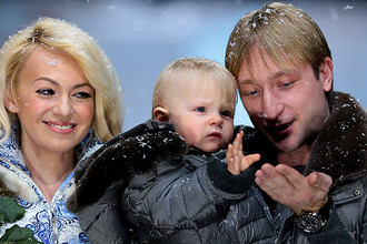Евгений Плющенко и Яна Рудковская поженились в 2009 году. Пара воспитывает сына Александра, который родился в 2013 году