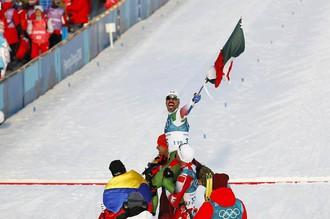 Мексиканец Герман Мадрасо после финиша на Олимпийских играх — 2018 в Пхенчхане