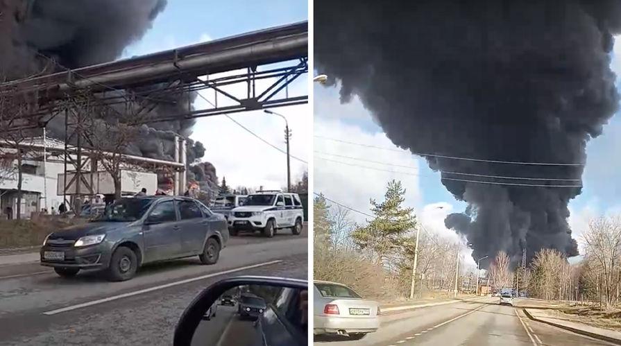 Пожар на складе завода алюминиевой и комбинированной ленты в поселке Каналстрой в Дмитровском районе, 21 марта 2020 года