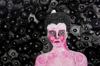 Автор картины — Марк Гудвольт, бывший писатель. Диагноз — параноидальная шизофрения