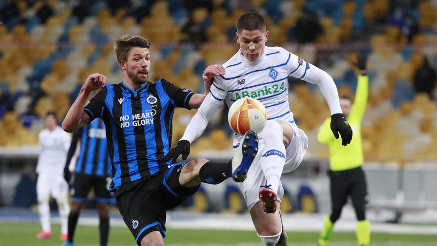 Эпизод матча «Динамо» (Киев) — «Брюгге» в Лиге Европы