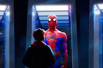 Кадр из мультфильма «Человек-паук: Через вселенные» (2018)