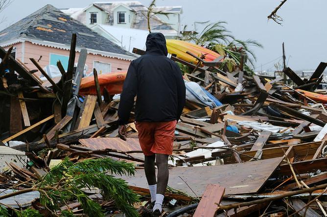 Последствия урагана «Дориан» в районе Северной Каролины, 6 сентября 2019 года