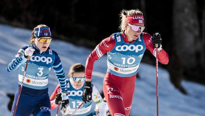Татьяна Сорина на чемпионате мира по лыжным гонкам в немецком Оберстдорфе.