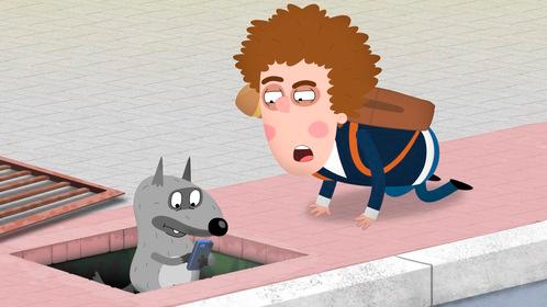 Сериал «Приключения Пети и Волка» (с 17 серии) — один из немногих проектов с возрастным цензом 12+. По сюжету Волк связывает школьника Петю с миром сказок, и мальчик помогает сказочным героям решать проблемы нестандартными способами.