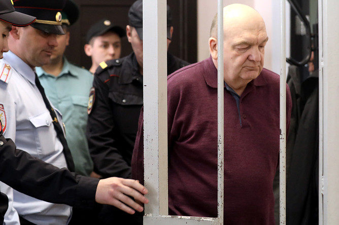 Бывший глава Федеральной службы исполнения наказаний Александр Реймер во время оглашения приговора в Замоскворецком суде