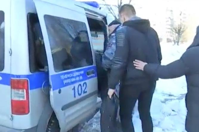 Задержание Томаша Мацейчука, 27 февраля 2018 года (кадр из видео)