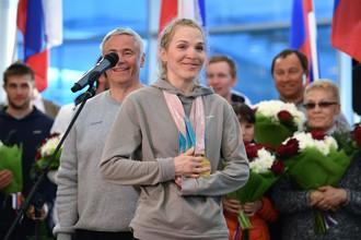 Лыжница и биатлонистка Екатерина Румянцева после возвращения с Паралимпиады-2018