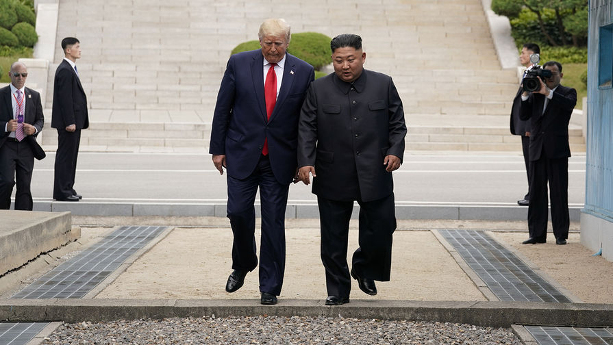 Ким Чен Ын и Трамп завершили переговоры