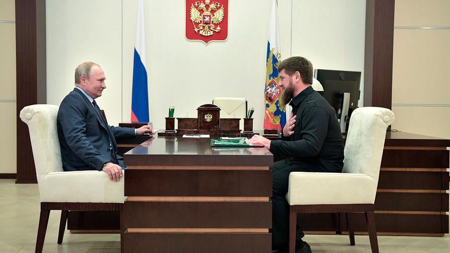 В Кремле сообщили о встрече Путина и Кадырова