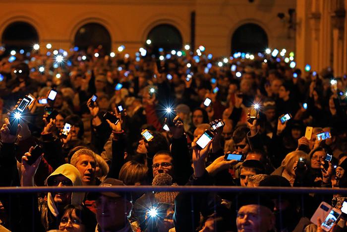 Акция протеста в Венгрии