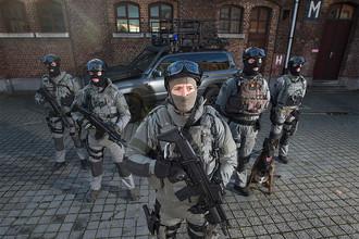 Сотрудники спецназа Бельгии