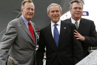 Джордж Буш-старший, Джордж Буш-младший и Джон Эллис (Джеб) Буш