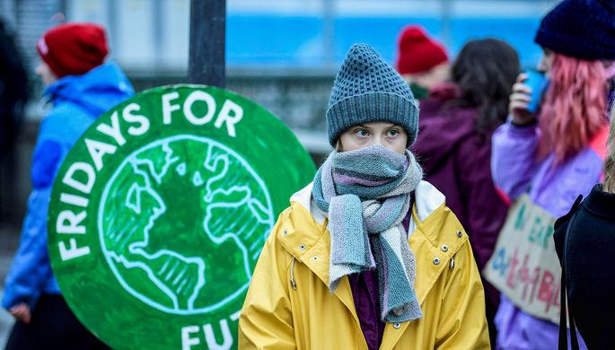Грета Тунберг во время конференции по климату в Мадриде, 9 декабря 2019 года