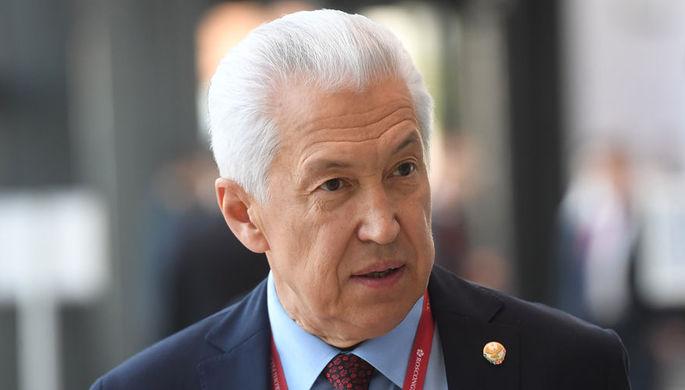 Глава Дагестана Владимир Васильев на Петербургском международном экономическом форуме, июнь 2019 года