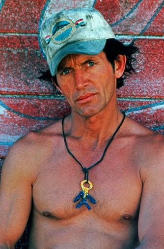Актер Лэнс Хенриксен на съемках фильма «Тыквоголовый», 1988 год