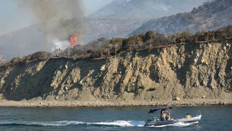 Лесной пожар на Утрише, 25 августа 2020 года