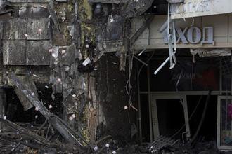 Здание ТЦ «Зимняя вишня» в Кемерово, где произошел пожар, 27 марта 2018 года