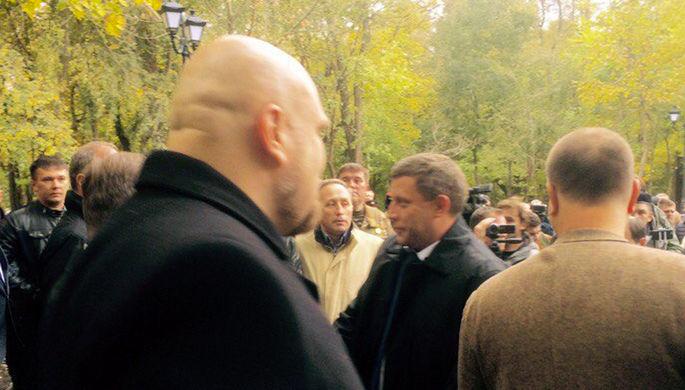 Глава ДНР Александр Захарченко (в центре)