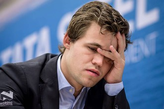 Норвежский гроссмейстер Магнус Карлсен.