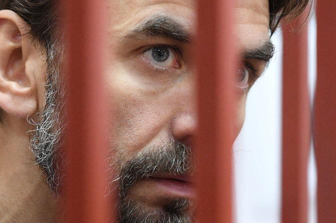 Бывший министр РФ по связям с Открытым правительством Михаил Абызов в Басманном суде Москвы, 23 мая 2019 года