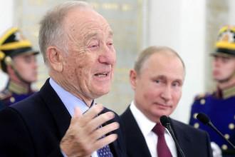Композитор Родион Щедрин, ставший лауреатом государственной премии за выдающиеся достижения в области гуманитарной деятельности за 2018 год