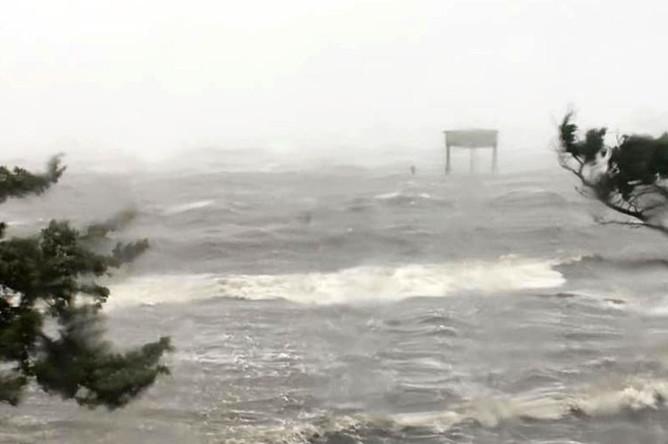 Ураган «Дориан» в районе Северной Каролины, 6 сентября 2019 года
