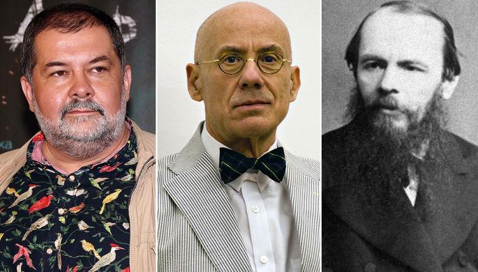 Сергей Лукьяненко, Джеймс Эллрой и Федор Достоевскии (коллаж)