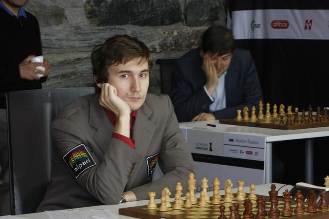 Сергей Карякин в задумчивости
