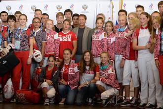 Александр Жуков провожает российских спортсменов на юношескую Олимпиаду в Нанкине