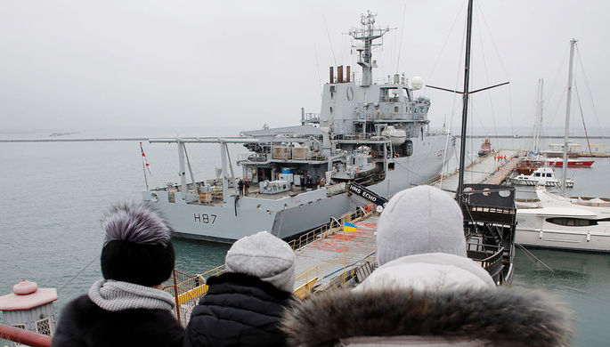 Гидрографический корабль ВМС Великобритании HMS Echo в порту Одессы, 21 декабря 2018 года