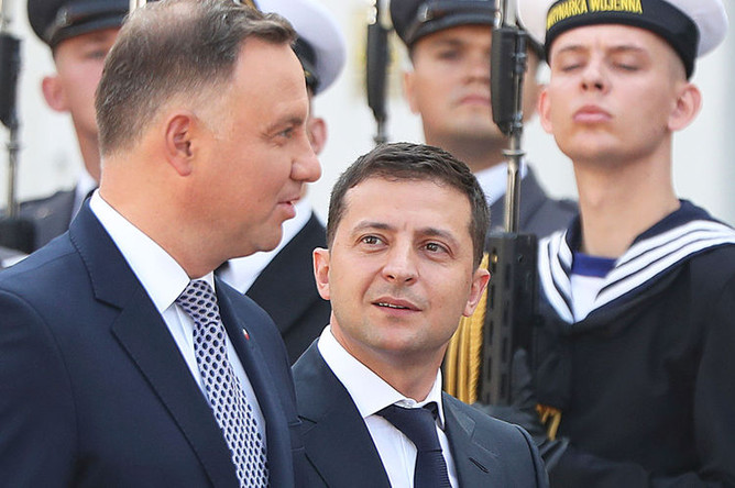Глава Польши Анджей Дуда и президент Украины Владимир Зеленский, 31 августа 2019 года