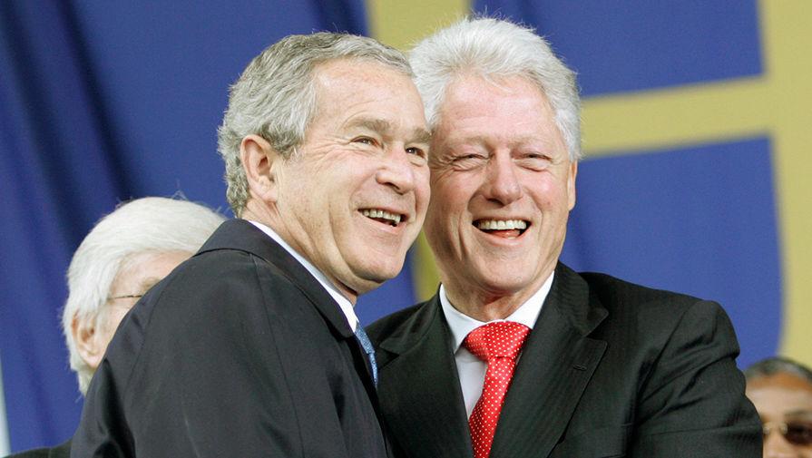 Джордж Буш и 42-й президент США Билл Клинтон