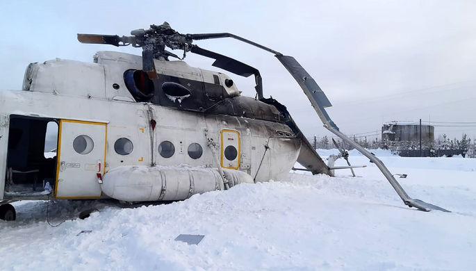 Угодил в снежный вихрь: последствия жесткой посадки Ми-8