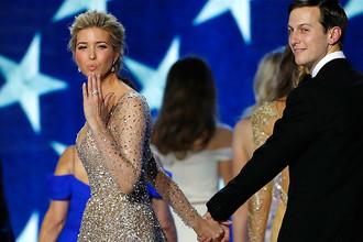 Иванка Трамп и Джаред Кушнер на инаугурационном балу в Вашингтоне, 20 января 2017 года