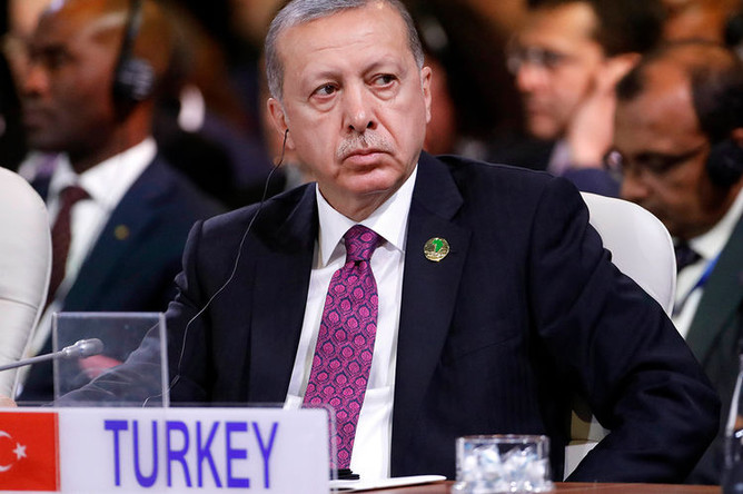 Президент Турции Реджеп Тайип Эрдоган на саммите БРИКС в Йоханнесбурге