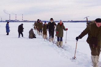 Кадр со съемок на озере Исетском под Екатеринбургом с сайта URA.RU