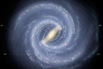 Вероятно, наша Галактика выглядит так, если смотреть на нее сверху