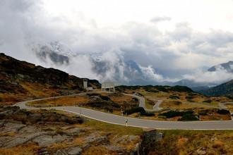 The San Bernardino Pass в Швейцарских Альпах